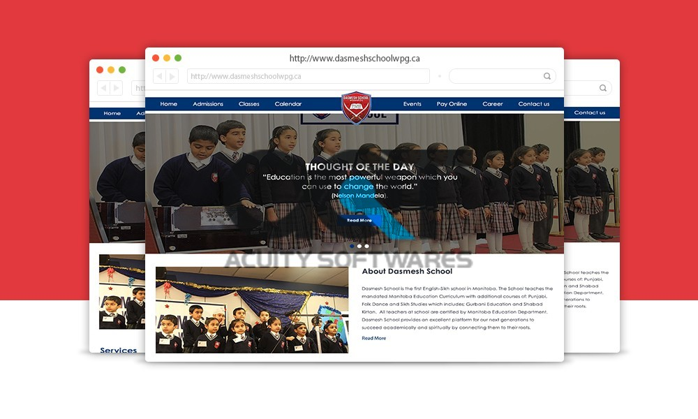 DASMESH SCHOOL WEBSITE DESIGN